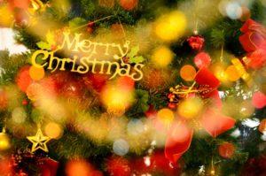 クリスマスツリーの明かり
